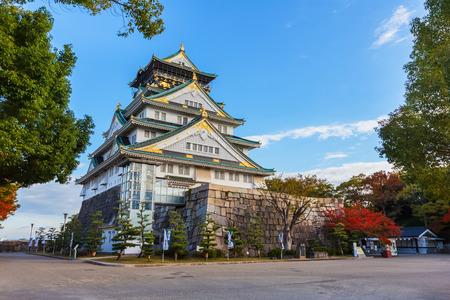osaka:  Osaka Castle in autumn
