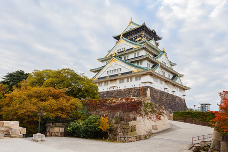 osakajo: Osaka Castle in autumn