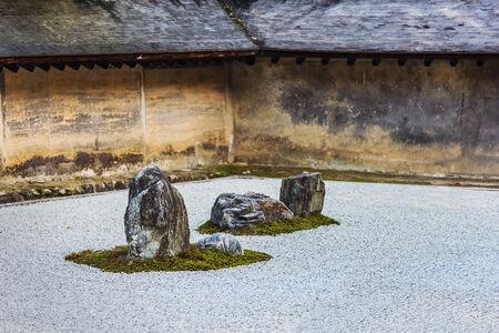 karesansui: A Zen Rock Garden in Ryoanji Temple in Kyoto