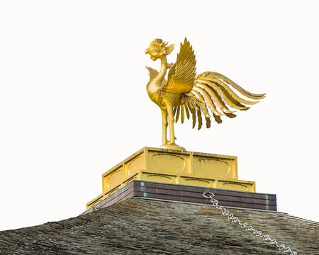 rokuonji: The phoenix sculpture on the top of Kinkaku-ji temple in Kyoto