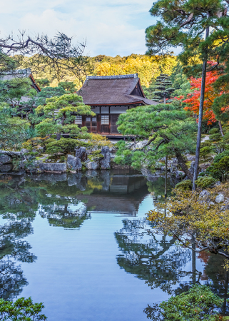 Chisen-kaiyushiki, Pond-stroll garden in Ginkaku-ji temple in Kyoto photo