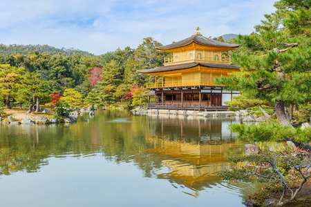Kinkaku-ji in Kyoto, Japan 報道画像