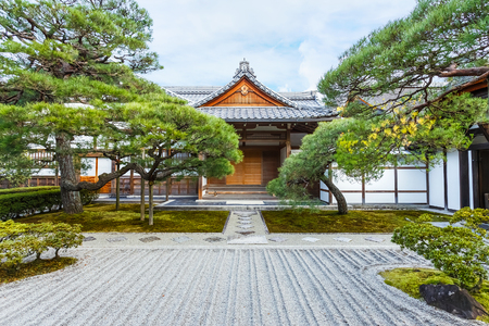 Small temple at Ginkaku-ji in Kyoto, Japan