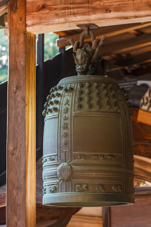 karesansui: Temple Bell at Ryoanji in Kyoto
