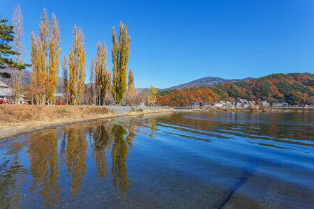 kawaguchi ko: Lake Kawaguchi  Kawaguchiko  at Fujikawaguchiko in Japan Stock Photo