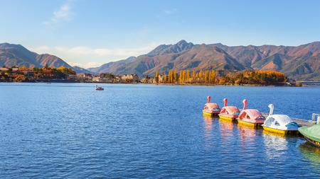 kawaguchi: Lake Kawaguchi  Kawaguchiko  at Fujikawaguchiko in Japan Stock Photo