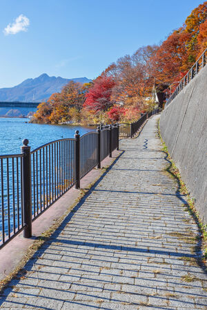 kawaguchi ko: Walking Course of Lake Kawaguchi  Kawaguchiko  at Fujikawaguchiko in Japan