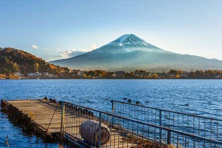 kawaguchi ko: Mt  Fuji in  at Kawaguchiko lake in Japan