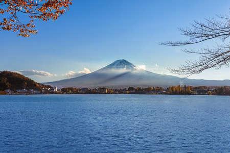 kawaguchi ko: Mt  Fuji at Lake Kawaguchiko  in Japan