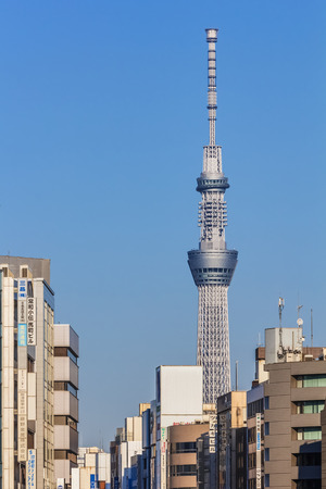 oshiage: Tokyo Sky Tree in Tokyo, Japan Editorial
