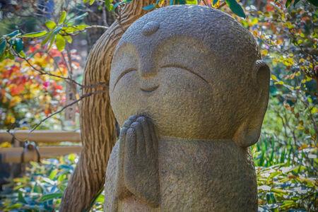 kamakura: Nagomi Jizo At Hase-dera Temple in kamakura Stock Photo