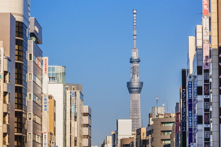 Tokyo Sky Tree in Tokyo, Japan Editorial