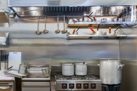 cookware: Professional kitchen in a restaurant