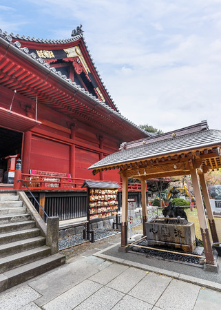 dera: TOKYO, JAPAN - NOVEMBER 25  Kiyomizu Temple in Tokyo, Japan on November 25, 2013  Located in Ueno Park, completed in 1631, design based on Kiyomizu dera in Kyoto
