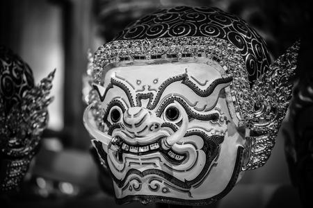 saga: Hua Khon  Thai Traditional Mask  Used in Khon - Thai traditional dance of the  Ramayana Epic Saga
