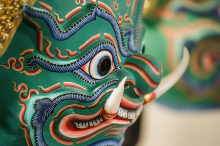 khon: Hua Khon (Thai Traditional Mask) Used in Khon