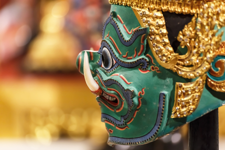 Hua Khon (Thai Traditional Mask) Used in Khon photo