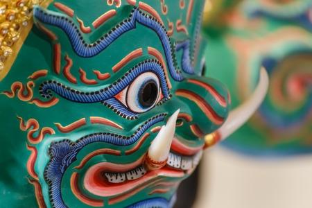 Hua Khon (Thai Traditional Mask) Used in Khon photo