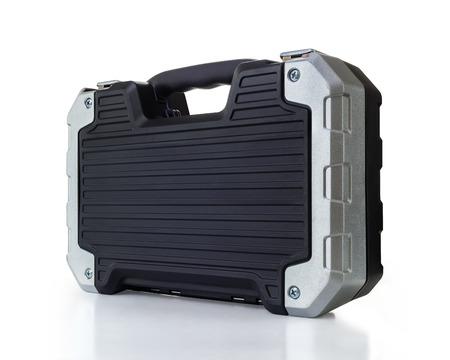 Isolated Futuristic Tool Box Over White Banco de Imagens
