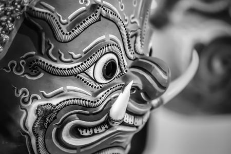 khon: Hua Khon (Thai Traditional Mask) Used in Khon - Thai traditional dance of the epic Ramayana Saga