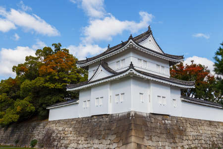 nijo: A Turret in front of Nijo Castle in Kyoto, Japan