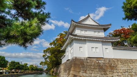 nijo: A Turret in front of Nijo Castle in Kyoto, Japan