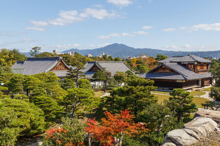 nijo: Honmaru Palace at Nijo Castle in Kyoto, Japan Editorial