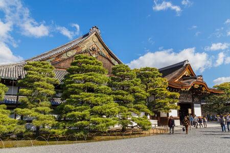 nijo: Ninomaru Palace at Nijo Castle in Kyoto, Japan Editorial