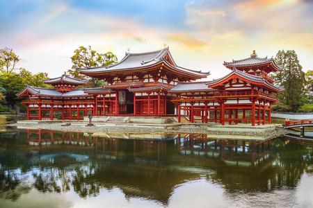 El Phoenix Salón de Byodo-en el templo en Kyoto, Japón