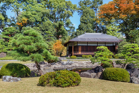 teahouse: Seiryu-en garden and Teahouse at Nijo Castle in Kyoto, Japan