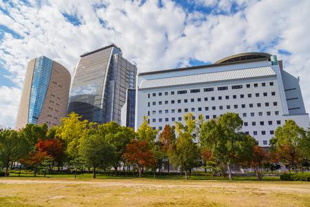 visually: OSAKA, JAPAN - OCTOBER 25: Museum of History in Osaka, Japan on October 25, 2014. Exhibits are visually oriented with city