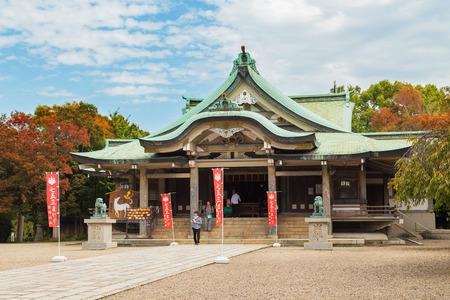 osakajo: Hokoku Shrine in Osaka, Japan