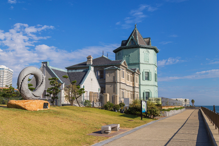 yat sen: KOBE, JAPAN - OCTOBER 25: Sun Yat-sen Memorial Hall in Kobe, Japan on October 25, 2014. The only museum in Japan, which honors Sun Yat-sen as a revolutionist, politician, and thinker