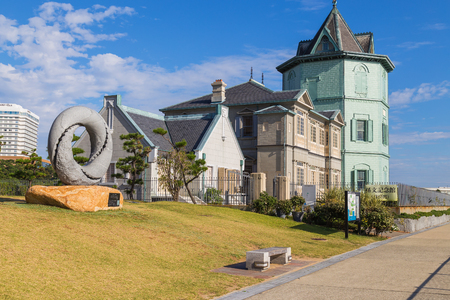 yat: KOBE, JAPAN - OCTOBER 25: Sun Yat-sen Memorial Hall in Kobe, Japan on October 25, 2014. The only museum in Japan, which honors Sun Yat-sen as a revolutionist, politician, and thinker