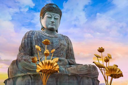 big buddha: Hyogo Daibutsu - The Great Buddha at Nofukuji Temple in Kobe, Japan Stock Photo