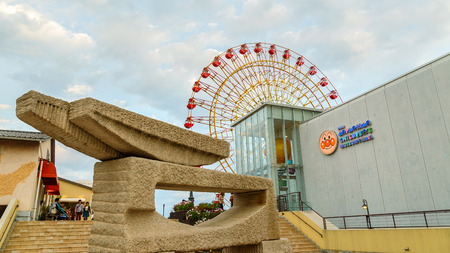 takashi: KOBE JAPAN  OCTOBER 26: Anpanman Childrens Museum in Kobe Japan on October 26 2014. Opened in 2013 its one of the four complexes opened in Yokohama Sendai and Nagoya dedicated to Takashi Yanase the characters creator Editorial
