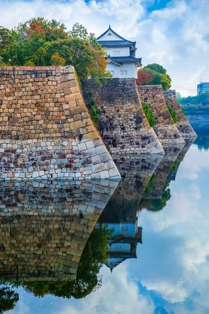 osakajo: Moat of Osaka Castle in Osaka Editorial