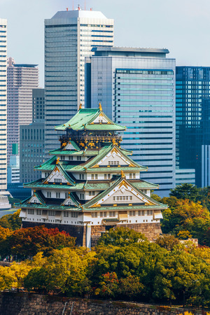 osakajo: Osaka Castle in Osaka, Japan  OSAKA, JAPAN - OCTOBER 27: Osaka Castle in Osaka, Japan on October 27, 2014. One of Japans most famous and played a major role in the unification of Japan during the 16th century Editorial