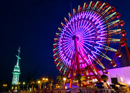 Reuzenrad bij Haven van Kobe