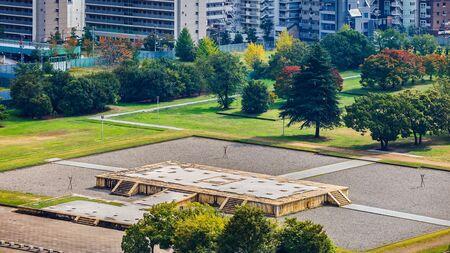 nagara: Ruins of Naniwa NagaraToyosaki Palace in Osaka Japan