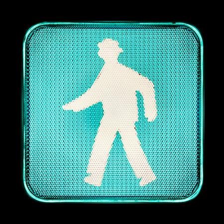 pedestrians: Green traffic light, for pedestrians