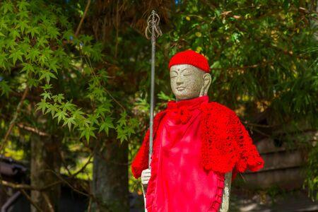 bodhisattva: Japanese Buddha Statues Jizo Bodhisattva at Koyasan Mt. Koya  JAPAN