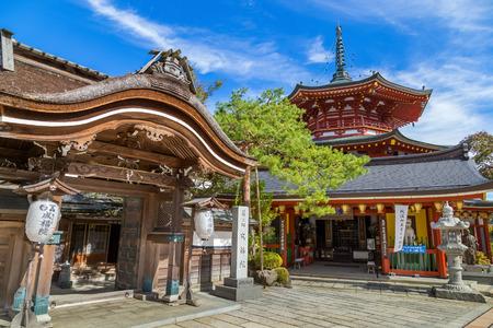 hospedaje: Jofuku-in Temple en Koyasan (Mt. Koya) Wakayama Wakayama, Japón - 29 de octubre: en Jofuku-Templo en Wakayama, Japón, el 29 de octubre de 2014. Un pequeño templo que se abrió para el alojamiento de turistas en Koyasan área (Mt. Koya)