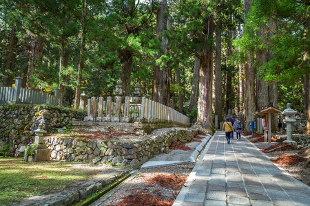 graveyard: Okunoin Temple with Graveyard Area at Koyasan Mt. Koya in Wakayama