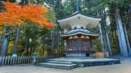 sutra: Hexagonal Sutra Repository at Danjo Garan Temple in Koyasan area in Wakayama, Japan