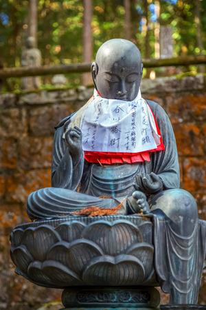 bodhisattva: Japanese Buddha Statues Jizo Bodhisattva at Koyasan, Wakayama, Japan Stock Photo