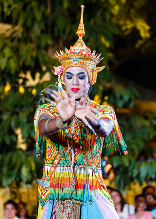 lumpini: BANGKOK, THAILAND - JANUARY 16: Thai Culture Festival in Bangkok, Thailand on January 16, 2014. Participants take part in the celebration of Thai Traditional Culture Festival at Lumpini Park