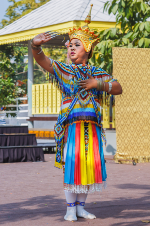 lumpini: BANGKOK, THAILAND - JANUARY 18: Thai Culture Festival in Bangkok, Thailand on January 18, 2014. Participants take part in the celebration of Thai Traditional Culture Festival at Lumpini Park