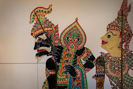shadow puppets: BANGKOK, THAILAND - JANUARY 16: Thai Culture Festival in Bangkok, Thailand on January 16, 2015. Shadow Puppets shown at Thai Culture Festival in Lumpini Park