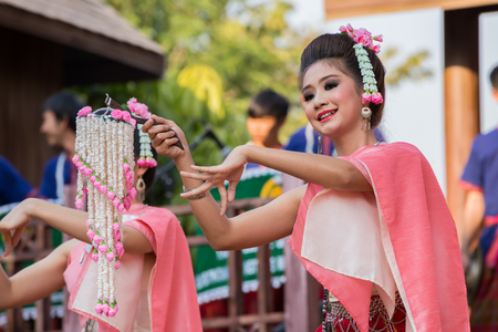 lumpini: BANGKOK, THAILAND - JANUARY 16: Thai Culture Festival in Bangkok, Thailand on January 16, 2015. Participants take part in the celebration of Thai Traditional Culture Festival at Lumpini Park Editorial